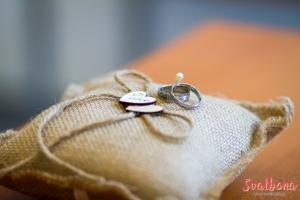 Polštářek na prstýnky