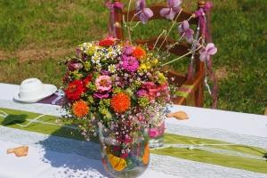 Přírodní svatba v boho stylu