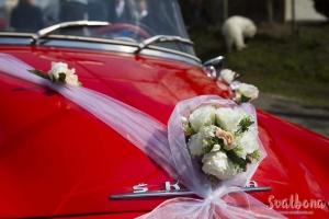 Svatební výzdoba auta