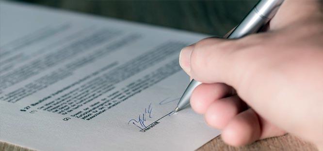 Předmanželská smlouva - podpis