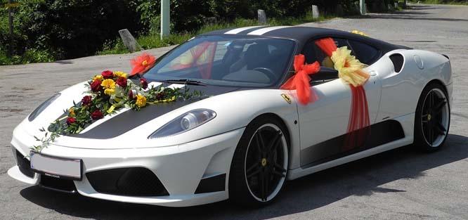 Sportovní auto na svatbu