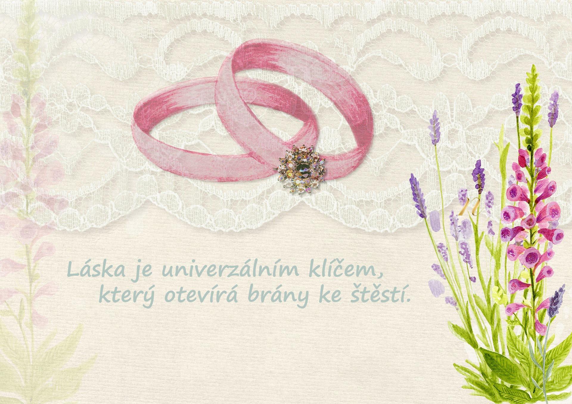 Verše a citáty na svatební přání