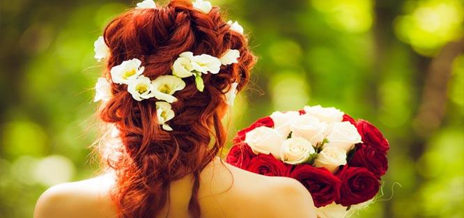Svatební ozdoby do vlasů - květy