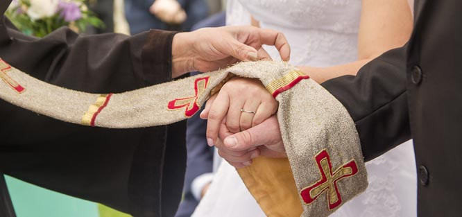 Církevní svatba - slib