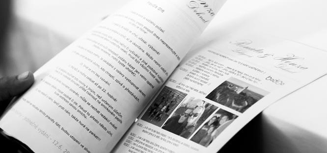 Jak vytvořit svatební noviny