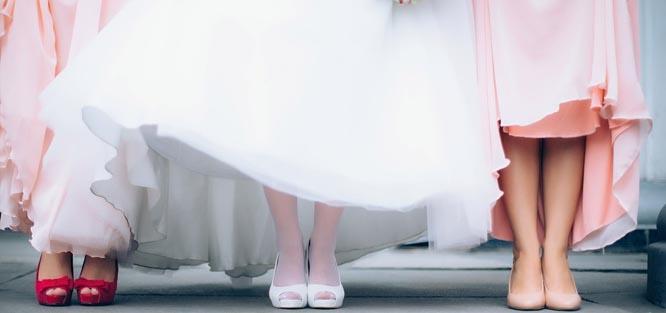 Šaty na svatbu pro družičky