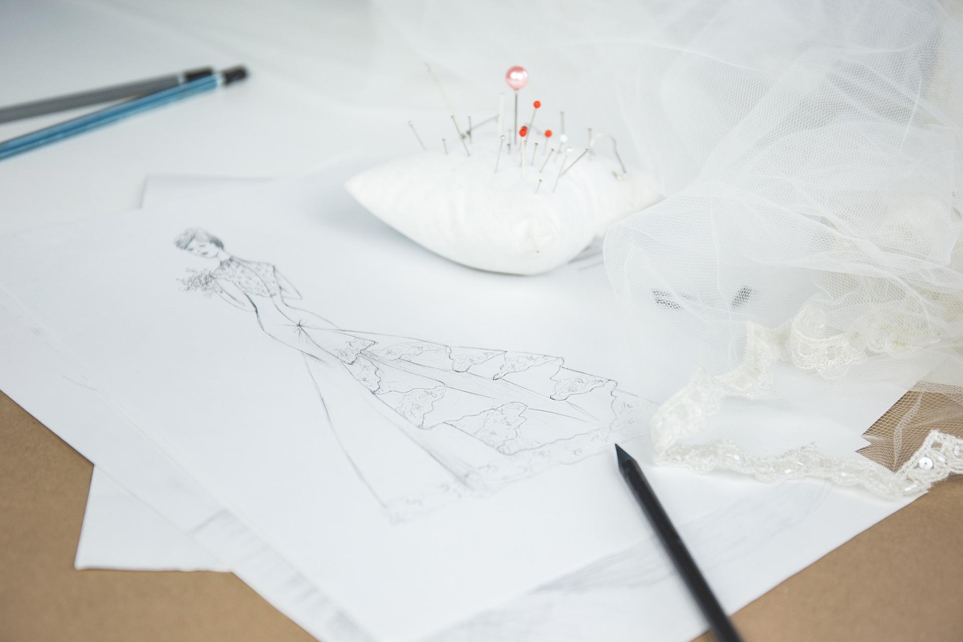 Šití svatebních šatů