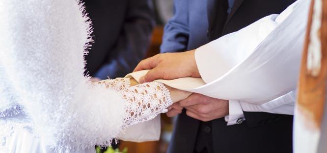 Svatba v kostele - slib