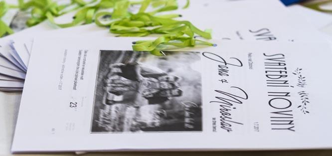 Svatební noviny - inspirace na obsah