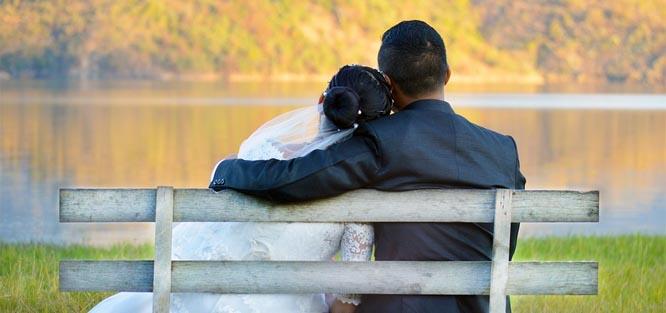 Svatba na podzim - příroda