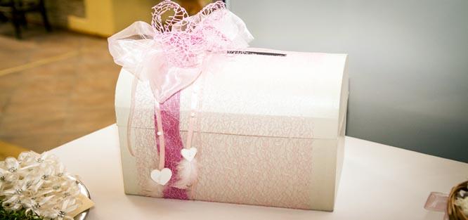 Svatební přání - truhlička