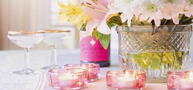 Svatba na jaře - dekorace