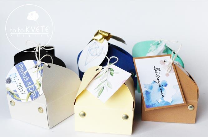 Krabička na svatební koláčky