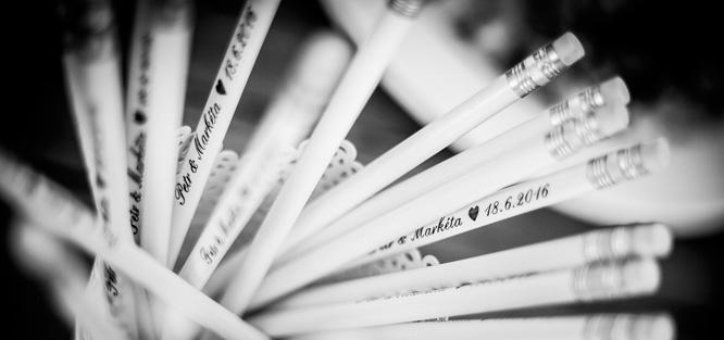 Svatební tužky levně