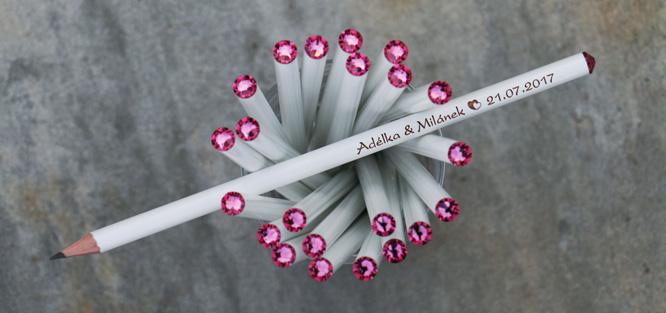 Svatební tužky Swarovski