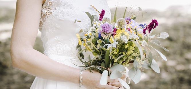 Druhy svatební kytice