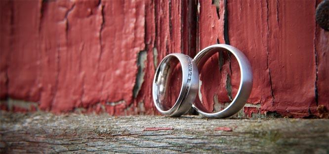 Stříbrné snubní prstýnky