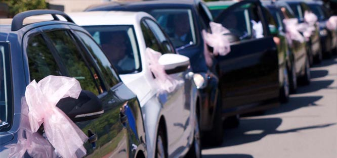 Svatební etiketa - kolona