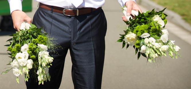 Svatební etiketa - květiny