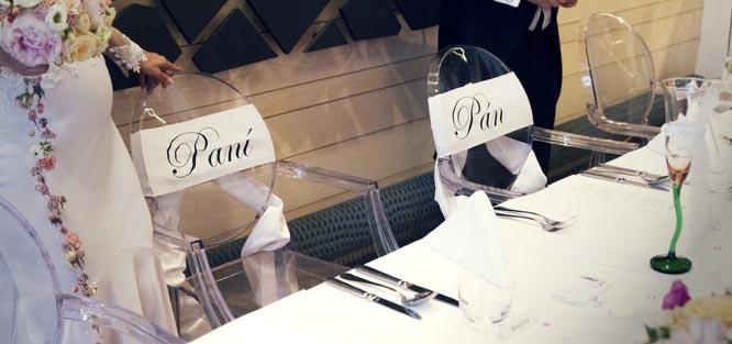Svatební etiketa - zasedací pořádek