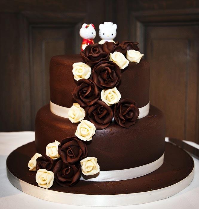 Čokoládové svatební dorty