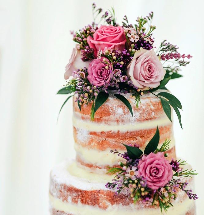 Nahý svatební dort