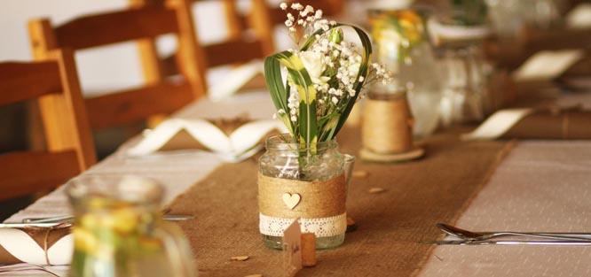 Ozdoby svatebního stolu