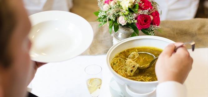 Svatební menu - polévka