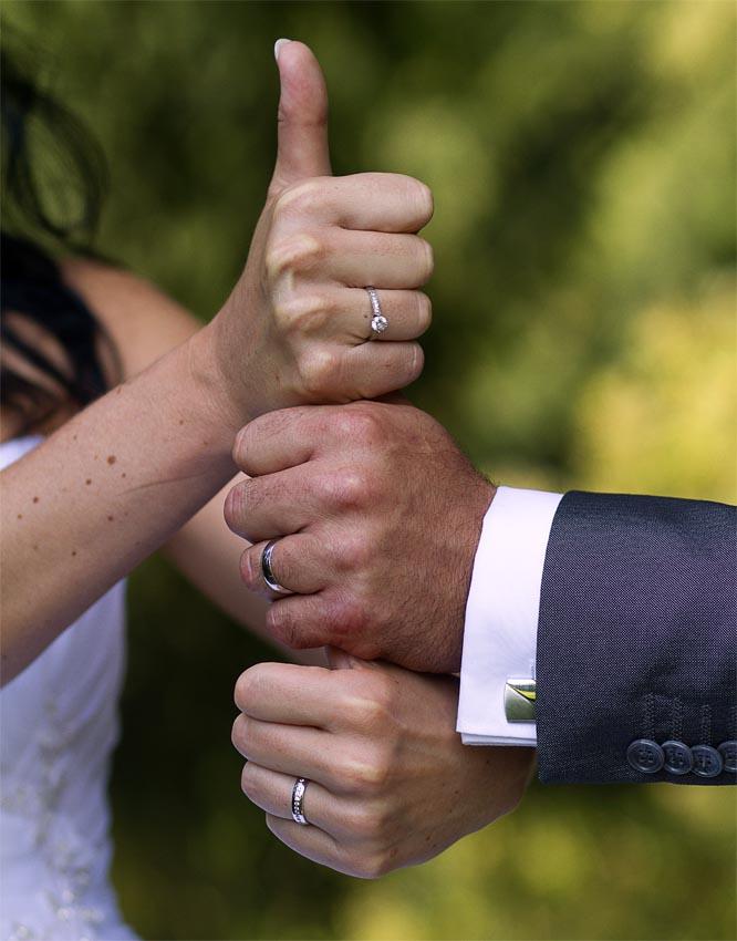 Snubní a zásnubní prsten dohromady