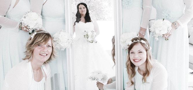 Svatební kytice pro družičky