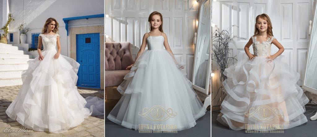 Podobné šaty na svatbu pro nevěstu a družičky