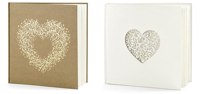 Svatební kniha hostů – srdce