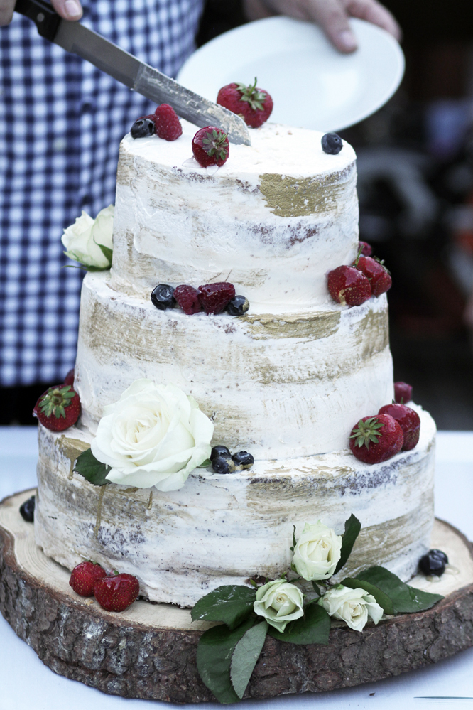 Boho svatba svatební dort