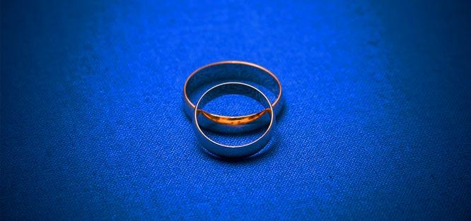 Královsky modrá svatba