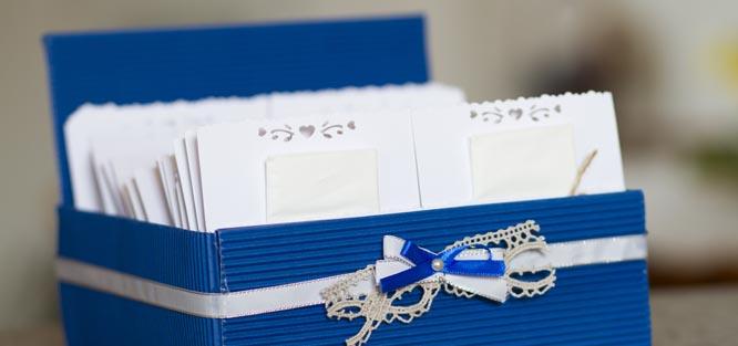 Modrá svatba - dekorace