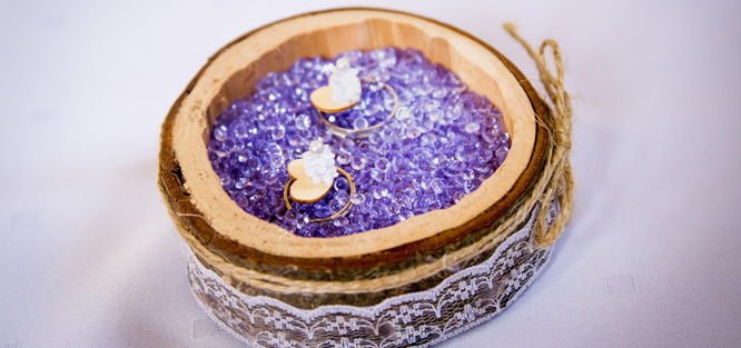 Svatba do fialova - prstýnky