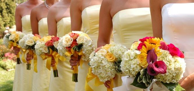 Jak vybrat barvu na svatbu - žlutá