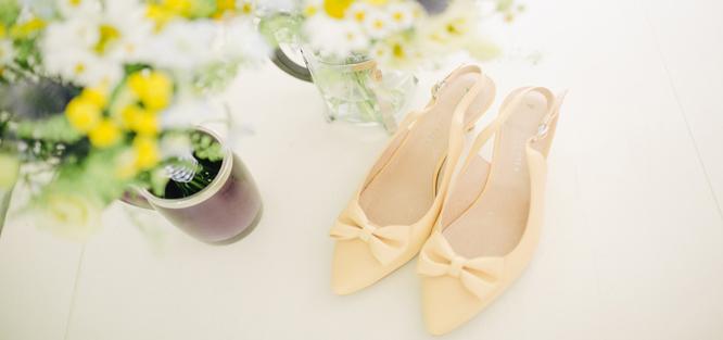 Žlutá svatba - střevíce