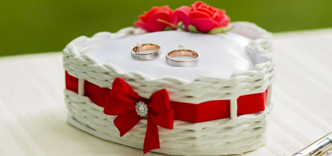 Červená svatba - prstýnky
