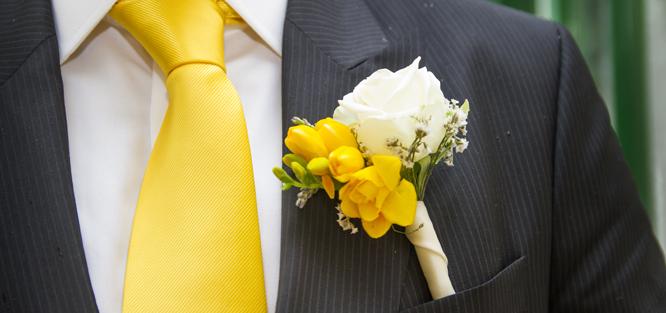 Svatební korsáž ženicha