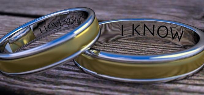 Gravírování snubních prstenů