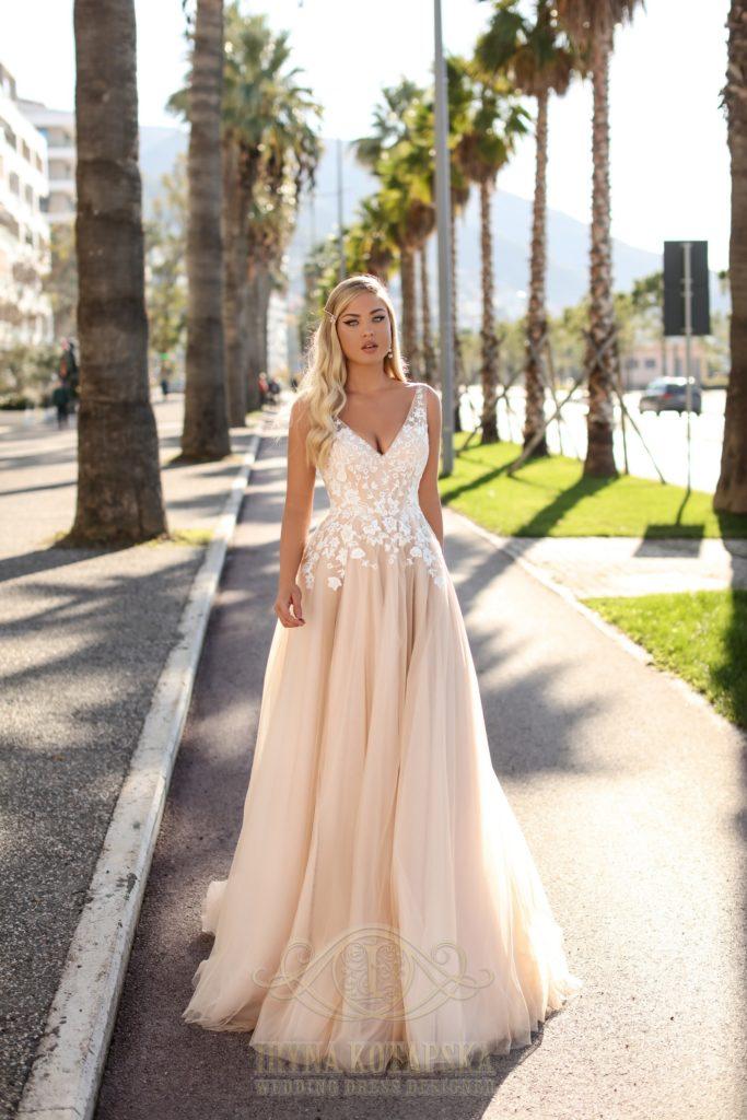 Áčkové svatební šaty – dlouhé