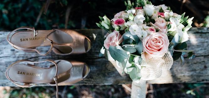 Svatební boty na podpatku