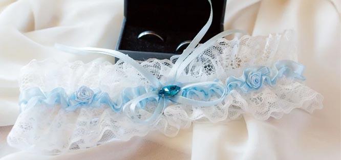 Luxusní svatební podvazek