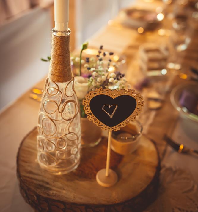 Rustikální svatba - svatební tabule