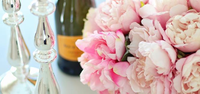 Glamour svatba - květiny