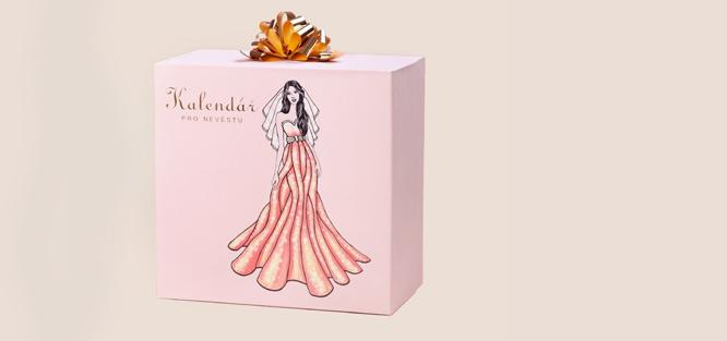 Kalendář, jako dárek pro nevěstu od svědkyně