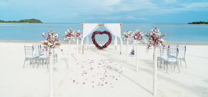 Svatba na pláži na klíč